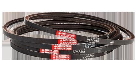 Raw edge V-belts